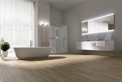 Pārkāpjot ierastā robežas: modernas tendences vannasistabas dizainā 17