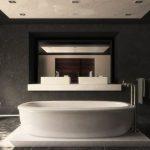 Pārkāpjot ierastā robežas: modernas tendences vannasistabas dizainā 67