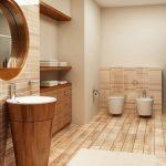 Pārkāpjot ierastā robežas: modernas tendences vannasistabas dizainā 64