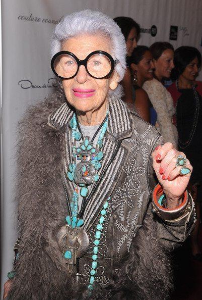 Iris Apfel 2012 Couture Council Museum FIT