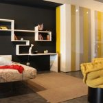 24-Yellow-Grey-Black-Bedroom-665×443