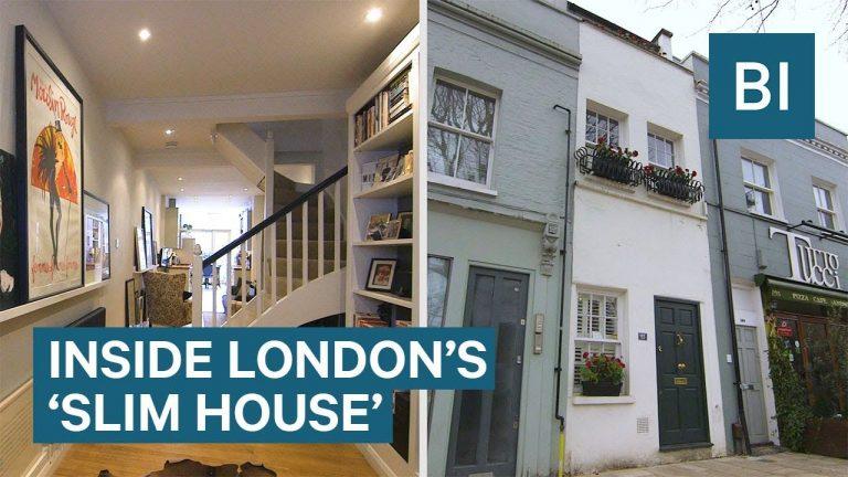 Aplūko, kā izskatās plānākā māja Londonā! (+VIDEO)